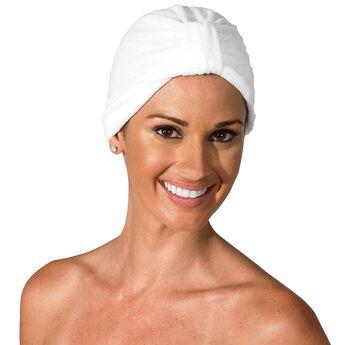 White Headline Terry Turban Headwear