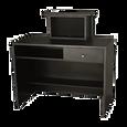 G12 Montego Reception Desk Matte Black
