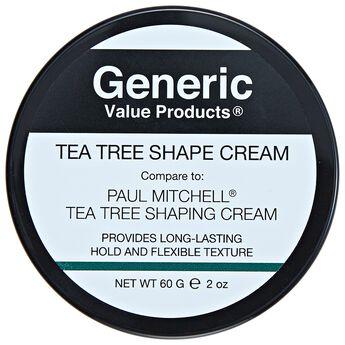 Gvp Generic Value Products Tea Tree Shape Cream Compared