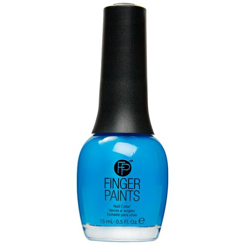 Nail Color Inkblot Blue Neon