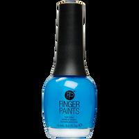 Nail Color Inkblot Blue Neon