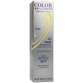 Intensive Shine 7W Medium Warm Blonde Demi Permanent Creme Hair Color
