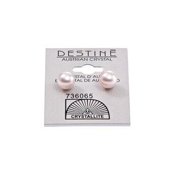 Destine Rose Pearl Earrings 8MM