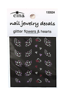 Glitter Lavendar Lust Nail Art Decals