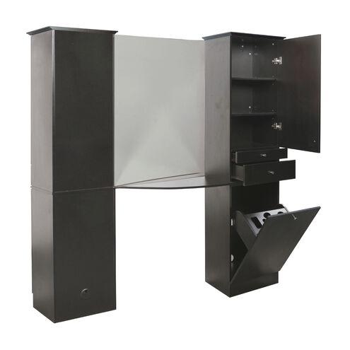 Black Back-to-Back Tower Styling Station