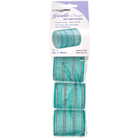 Aqua and Silver 2 Inch Gentle Style Self Grip Rollers 4 Pack