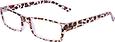 Fashion Reading Glasses with matching Orange Leopard Case