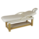 Dual Purpose Facial + Massage Treatment Table/Bed Beige Vinyl
