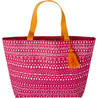Pink Pattern Tassel Tote
