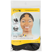 U Part Center Black Wig Cap