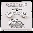 Destine Austrian Cut Square Post Earrings