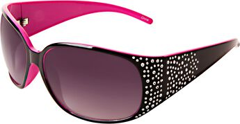 Ladies Two Tone Black and Pink Sunglasses