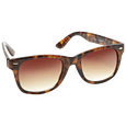 Ladies Fashion Sunglasses Tortoise Wayfarer Style with Brown Lenses
