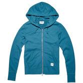 Pull à capuche entièrement zippé Essentials pour Femme Turquoise