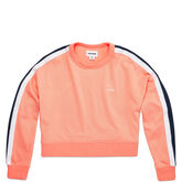 Women's Star Chevron Track Cropped Crew Pale Coral
