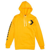 Men Star Chevron Graphic Pullover Hoodie University Gold