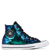 Chuck Taylor All Star Glitter High Top Negro/Multicolor reversible SE