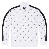 All Over Print Star Chevron Track Jacket White Multi