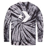 Star Chevron Lightweight Tie Dye Crew White Multi