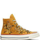Chuck 70 Floral Leather High Top Turmeric Gold/Teak/Egret