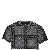 Converse x Miley Cyrus Boxy Cropped Track Tee Black Multi