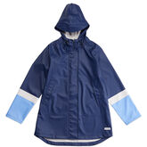 Colour-Blocked Raincoat  Midnight Navy