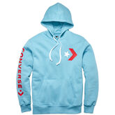 Men Star Chevron Graphic Pullover Hoodie Shoreline Blue