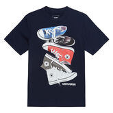 Chucks Stacked Tee Obsidian