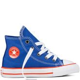Chuck Taylor All Star Classic Colors para niños pequeños y jóvenes Hyper Royal/Bright Poppy/White