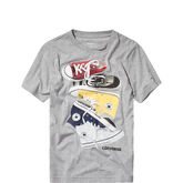 Chucks Stacked Tee Dark Grey Heather