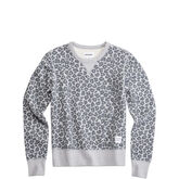 Sweat-shirt ras du cou Converse Essentials Leopard  Gris clair chiné multicolore