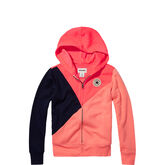 Colour-blocked Front Zip Hot Punch