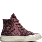 Chuck 70 Reptile Leather High Top Vintage Wine/Zwart/Egret