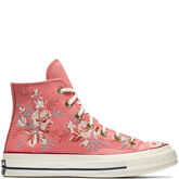 Chuck 70 Floral Leather High Top Punch Coral/Storm Pink/Egret