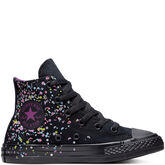 Chuck Taylor All Star Birthday Confetti High Top Nero/Multi/Viola iconico