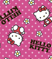 Sanrio Hello Kitty Flower Toss Fleece Fabric, , hi-res