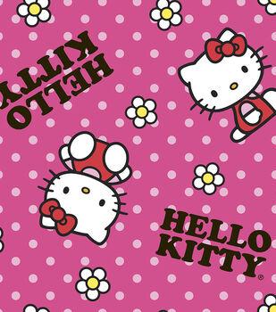 Sanrio Hello Kitty Flower Toss Fleece Fabric