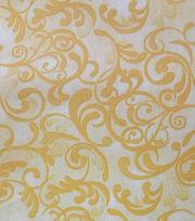 Legacy Studio Gold Swirl Cotton Fabric-, , hi-res