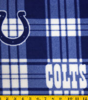 Indianapolis Colts NFL Plaid Fleece Fabric by Fabric Traditions, , hi-res