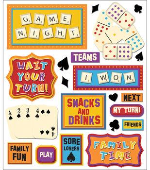 Sticker Medley-Game Night