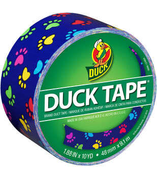 ShurTech Brands™Patterned Duck Tape 1.88''x10yds-Colorful Paws