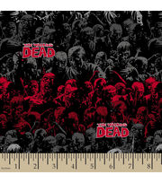 The Walking Dead Zombie Stripe Cotton Fabric, , hi-res