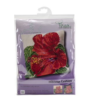"Hibiscus Cushion Tapestry Kit-15.75""X15.75"" 18 Count"
