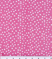 Keepsake Calico™ Cotton Fabric-Irregular Dots On Rose Pink, , hi-res