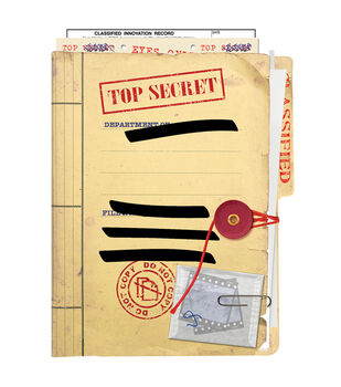 Paper House® 4''x6'' 96 Page Tricky Notebook-Top Secret