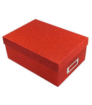 Red Glitter Photo Storage Box