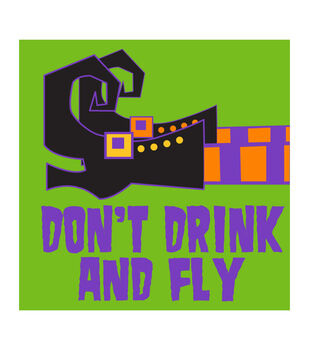 Maker's Halloween 20ct Beverage Paper Napkins-Don't Drink and Fly
