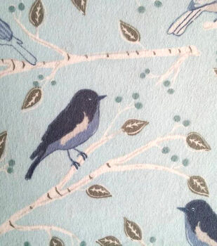 Snuggle Flannel Fabric-Blue Bird Branches