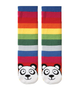 Tubular Novelty Socks-Panda-Multi Stripe