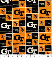 Georgia Tech NCAA  Cotton Fabric, , hi-res